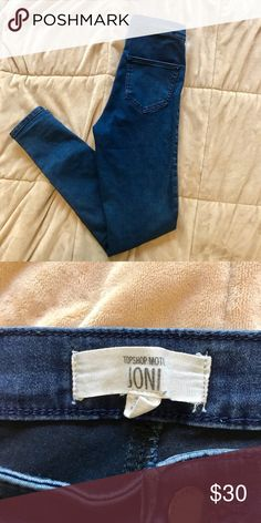 Topshop Petite Moto Joni Jeans Only worn a couple of times! Size 26 inch waste. #topshop #joni #skinnyjeans #highwaisted Topshop PETITE Jeans Skinny