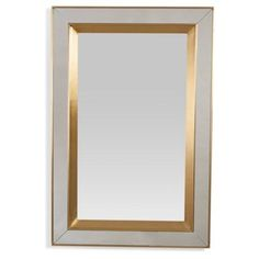 Check out this item at One Kings Lane! Rectangular Profile Mirror, Brass