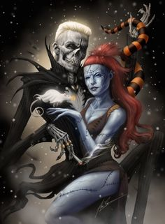Combining two of my favorite things: Die Antwoord and Nightmare Before Christmas I wanted this to be a similar composition and posing as my last Jack and Sally piece:alexruizart.deviantart.co...