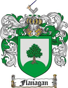 FLANAGAN FAMILY CREST - COAT OF ARMS