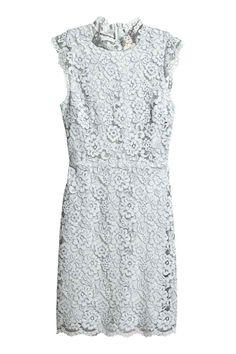 Vestido de encaje - Azul grisáceo claro - MUJER   H&M ES