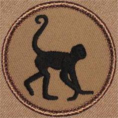 Spider Monkey Silhouette Patrol Patch (#499)