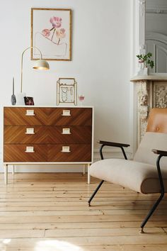 Geo-Marquetry Three-Drawer Dresser