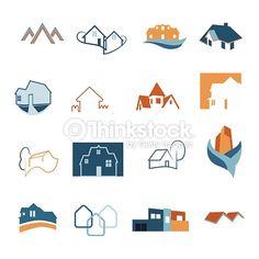 Vector Art : Real Estate web icons set. House logos. Construction logo. Vector.