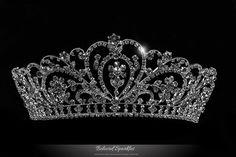 Lorelei Royal Statement Silver Tiara | Swarovski Crystal - Beloved Sparkles - 1