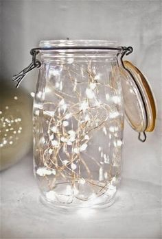 Minimal Mason Jar - Rustic Christmas Light Ideas That Prove Holiday Decor Can Be Chic - Photos