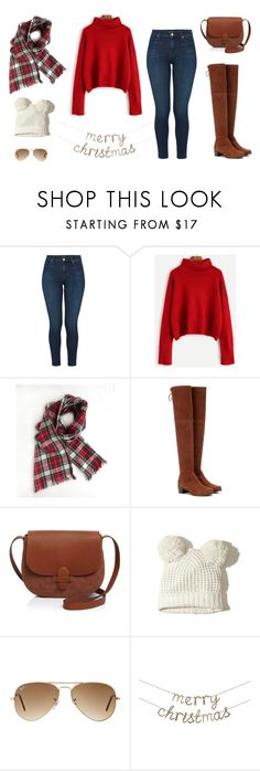 """Christmas Countdown"" by ritakorkounian ❤ liked on Polyvore featuring J Brand, Stuart Weitzman, Olivia Clergue, Hollister Co., Ray-Ban and Meri Meri"