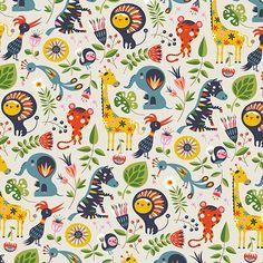 Jungle Folklore wallpaper   Illustrator: Helen Dardik