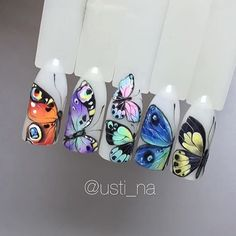incredible detail and amazing creativity! Butterfly Nail Designs, Butterfly Nail Art, Nail Art Designs, Beautiful Nail Designs, Beautiful Nail Art, Spring Nail Art, Spring Nails, Gel Nail Art, Easy Nail Art