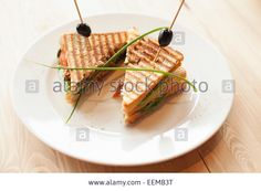 Close up of sandwiches on plate Stock Photo