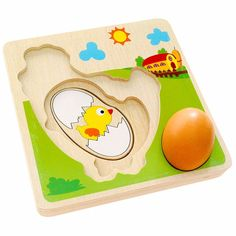 Multi Layer Chicken Hen Growing Up Process Wooden Puzzle Early Learning Educational Toys For Children Intelligence Jigsaw UJ3066