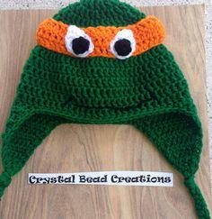 Teenage Mutant Ninja Turtle Hat Pattern by KrystalBeadKreations, $5.00