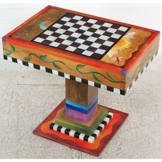 Sticks Fliptop Game Table with Drawer, GAM043-D11520, Artistic Artisan Designer Games