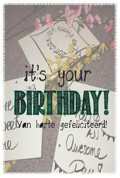Verjaardag - Engels en Nederlandse tekst