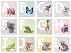 Nursery wall art illustrated by John Butler at Little Blue Zebra