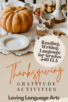 Great for critically thinking and reflecting on gratitude in literature (Aesop's Fables whose morals have to do with being grateful), writing about oneself, analogies, and language as Thanksgiving approaches-but great for the whole fall season in English language arts. ELA activities get students grades 5-10 to examine what being thankful is all about through characterization in stories & self-reflection in writing. In both easy-print and digital formats for easy in-person & distance learning. Reading Themes, Common Core Ela, English Language Arts, Simple Prints, In Writing, Gratitude, Aesop's Fables, Grateful, Thankful