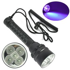 46.20$  Watch here - http://alied8.worldwells.pw/go.php?t=32704297512 - Diving light 390nm 25W 5 x 5050 UV LED Diving Scuba Flashlight waterproof fishing hunting torch