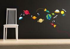Behang Kinderkamer Ruimtevaart : Dekbedovertrek ruimtevaart wonen kids aliens and