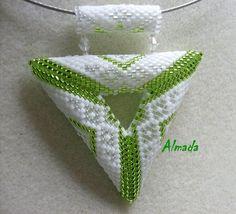 Dalma new beads: Peyote triangle pendants