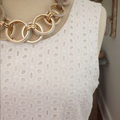 Forever 21 White Eyelet Dress Sweet white eyelet dress from Forever 21. EUC. Fully lined. 100% cotton. Dry clean only. Do not machine wash or dry. No trades or Paypal please. Forever 21 Dresses