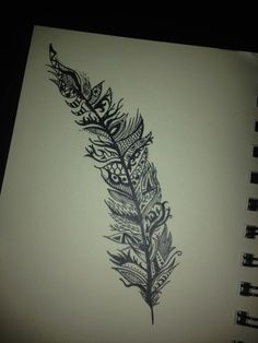 feather lace tattoo