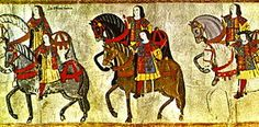 Officers of the College of Arms riding in procession to the Westminster Tournament, from a tourney roll, made during the reign of King Henry VIII in 1511. The pursuivants to the left are identified by their reversed tabards, while the figure in the right (with the black hat) is probably Garter King of Arms Sir Thomas Wriothesley.