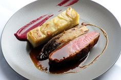 Duck breast with chicory and potato dauphinoise