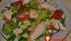 Fine Food Recipes: Easy salad with chicken recipe World Recipes, Diet Recipes, Chicken Recipes, Cooking Recipes, Clean Eating, Easy Salads, Vegetable Salad, Chicken Salad, Food To Make