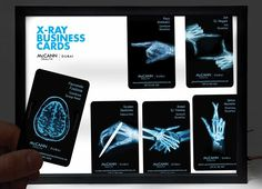These Cool Business Card Designs Mimic Medical Imagery #marketing trendhunter.com