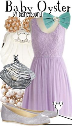 Baby Oyster from Alice in Wonderland inspired outfit by DisneyBound