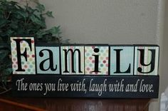 SUPER SATURDAY CRAFT KITS: Family Blocks With Quote