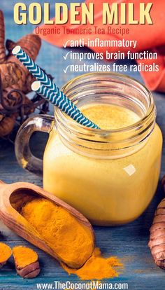 Let's catch up over a cup of golden milk! A warm cup of Turmeric Chestnut Latte or Golden Milk (whatever you wanna call it) is all you need to cozy…View Post Turmeric Tea, Organic Turmeric, Turmeric Milk Benefits, Milk With Turmeric, Tumeric Elixir, Golden Tumeric Milk, Turmeric Paste, Latte, Turmeric Recipes
