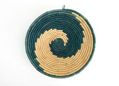 Large African Coil Basket / Native Wave Spiral Design by ChapsAndRascal