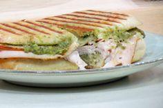 Turkey Artichoke Panini  http://recipes.howstuffworks.com/menus/turkey-artichoke-panini-recipe.htm