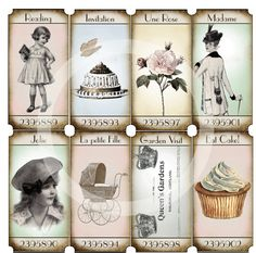 16 TICKETS with a French Touch (Scrapbooking Tickets) - Digital Download - Embellishment - Paris. $4,00, via Etsy.