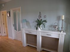 Radiator Cover Design Ideas, Pictures, Remodel, and Decor - page 7 White Radiator Covers, Modern Radiator Cover, Custom Radiator, Radiator Ideas, Canapé Design, Deco Design, Interior Design, Cover Design, Design Ideas