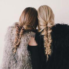 BFF fishtail braids