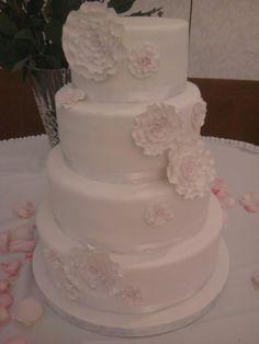 ##wedding #Cake ❤ #simple #elegant