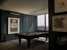 Snooker-Turned-in-a-beautiful-environment. #interiordesign #luxuryfurniture. For More News: www.bocadolobo.com/blog