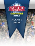 2013 Little League World Series. Some day when I get older I want to go see the Little League World Series to watch kids who are around my age play baseball and see how much better they are then me.