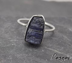 Tanzanite ring,Sterling silver ring,Blue stone,healing stone,Tanzanite ring,metalwork ring,Valentine's Day,unisex ring,Women ring by PeagerFantasyWorld on Etsy