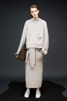 Out Of All The Pre-Fall Collections, These Are The 20 You Need To Know #refinery29 http://www.refinery29.com/pre-fall-trends-2015#slide-15 Joseph Whatever is going on with the shapes of Joseph's pre-fall collection is something worth noting. It pays no attention to elongating your legs or trimming your waist, which is precisely why it's so rad. It skips tomboy and goes fully into a menswear approach to style that extends beyond suiting to dresses, robe coats, and knit skirts, too.