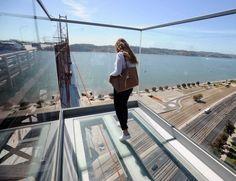 Novo miradouro na Ponte 25 de Abril a 80 metros de altura! #lisboa #25abril #miradouro #aventura #portugal #vertigens