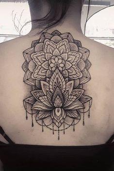 how to tattoo Sweet Tattoos, Baby Tattoos, Tatoos, Floral Tattoo Design, Tattoo Designs, Mandala Design, Mandala Tattoo Back, Gorgeous Tattoos, Compass Tattoo