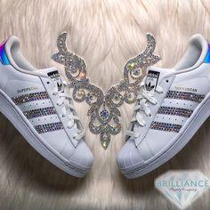 competitive price f1e72 86cc5 Adidas Superstar Hologram Shoes - AB Swarovski Custom listing for exclusive Adidas  Superstar Hologram shoes blinged with AB Swarovski® crystals on 6 outer ...