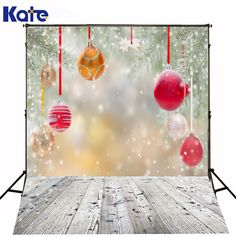 Kate Photography Background Thick Cloth Wood Floor With Snow Falling Newborn Photography Backdrop Printed Studio Xmas