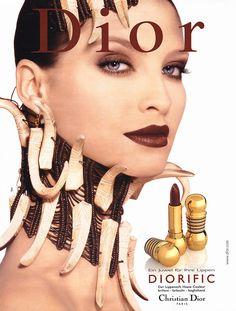 Make up poster - Christian Dior Magazine Advert - Diorific lipstick by Tyen Grunge Look, Grunge Style Jeans, 1990s Makeup, Dior Makeup, Eye Makeup, Dior Beauty, Beauty Ad, Beauty Makeup, Hip Hop Party