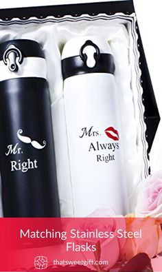 Matching Stainless Steel Flasks Thatsweetgift Great Anniversary Gifts Bride Unique