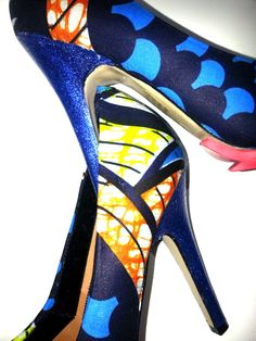 Waterproof African Print Fabric Shoes UK 7 by African Septs, showcasing at IchinenFashion, £55.00