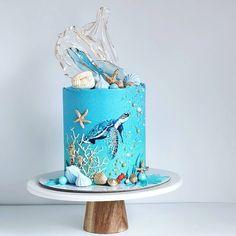 Paper Cake, Cake Art, Beautiful Cakes, Amazing Cakes, Cupcakes, Cupcake Cakes, Marzipan, Island Cake, Beach Themed Cakes